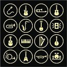 Musical Instrument,Music,Computer Icon,Symbol,Icon Set,Guitar,Microphone,Harp,Drum,Vector,Drum Kit,Piano,Interface Icons,Push Button,Electric Guitar,Gold,Brass Instrument,Gold Colored,Sound,Ilustration,Trumpet,Acoustic Guitar,Flat,Simplicity,Piano Key,Isolated Objects,Wind Instrument,Internet,Recording Studio,Black Background,Black Color,internet icons,Illustrations And Vector Art,Internet Icon,Speaker,Vector Icons,Isolated,Isolated On Black,Audio Equipment