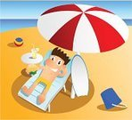Men,Beach,Umbrella,Sea,Holidays And Celebrations,Holiday Backgrounds,Bed,Coconut,Surfboard,Travel Destinations