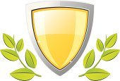 Shield,Gold,Strength,Symbol,Military,Safety,Computer Icon,Protection,Leaf,Platinum,Bodyguard,Yellow,Shape,Stability,Achievement,Computer Graphic,Aluminum,Success,Isolated,Weapon,Isolated Objects,Sign,Branch,Security Guard,Shiny,Vector,Pattern,Metal,Decoration,Design,Illustrations And Vector Art,Green Color,Security,Insignia,Objects/Equipment,Security System,Titanium,Metallic,Chrome