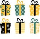Gift,Christmas,Surprise,Birthday,Retro Revival,White Background,Pattern,Box - Container,Set,Gold Colored,Black Color,Holiday,Clip Art,Vector,Paper,Luxury,White,Ribbon,Polka Dot,Isolated On White,Vector Cartoons,Single Object,Ilustration,Cute,Holidays And Celebrations,Illustrations And Vector Art,Birthdays,Multi Colored,Collection,Celebration,Striped,Isolated Objects,Yellow,Green Color,Design,Spotted,Isolated-Background Objects,Isolated,Ornate,Variation,Elegance