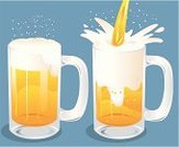 Beer - Alcohol,Beer Glass,Cartoon,Draught,Pouring,Glass - Material,Glass,Alcohol,Vector,Bubble,Ilustration,Drink,Cold - Termperature,Alcohol,Illustrations And Vector Art,Drinks,brewed,No People,kumpai,Food And Drink