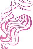 Human Hair,Long Hair,Pink Color,Hairstyle,Human Face,Symbol,Beauty,Beauty Product,Vector,Ilustration,Curve,Glamour,Shampoo,Wave Pattern,Fashion,Health Spa,Profile View,Striped,Style,Ornate,Single Line,Elegance,Care