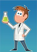 Scientist,Chemist,Laboratory,Cartoon,Science,Teacher,Chemistry,Test Tube,Beaker,Scientific Experiment,Professor,Illness,Glass - Material,Finding,Science Symbols/Metaphors,Learning,Inspiration,Teaching,Doctor,Flask,Illustrations And Vector Art,Healthcare And Medicine,Research,Medicine And Science,Vector Cartoons,Young Adult,Working,Student,Discovery,Smiling,Showing,Creation,Invention,Uniform,Medicine,Liquid