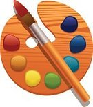 Palette,Paintbrush,Symbol,Digitally Generated Image,Craft,Artist,Vector,Ilustration,Gouache,Art,Paintings,Creativity,Computer Graphic,Group of Objects,Arts And Entertainment,Isolated-Background Objects,Blue,Description,No People,Simplicity,Elegance,Hobbies,Spectrum,Arts Symbols,Isolated Objects,Small,Equipment,Image,Red,Yellow