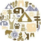 Camping,Hiking,Symbol,Icon Set,Owl,Tent,Outdoors,Silhouette,Bear,Mobile Home,Campfire,Vector,Leisure Activity,Recreational Pursuit,Map,Non-Urban Scene,Tree,Ilustration,Binoculars,Camping Stove,Walking,Footprint,Acorn,Orienteering,Nature,Compass,Carton,Penknife,Fire - Natural Phenomenon,Animal,Nature,Wildlife,Leaf,Nature Symbols/Metaphors,Animals And Pets,Directional Sign,Wild Animals,Vector Icons,Illustrations And Vector Art