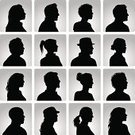 Silhouette,Profile View,Back Lit,Human Head,Women,Men,People,Avatar,Teenager,Outline,Side View,Vector,African Ethnicity,Ilustration,Multi-Ethnic Group,Latin American and Hispanic Ethnicity,Adult,Young Adult,Vector Backgrounds,People,Illustrations And Vector Art,Caucasian Ethnicity