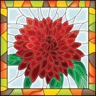 Stained Glass,Mosaic,Chrysanthemum,Flower,Single Flower,Summer,Plant,Bud,Arts And Entertainment,Arts Backgrounds,Leaf,Illustrations And Vector Art,Symbol,Ilustration,Nature,Flowers,Vector Florals,Picture Frame,Vector,Multi Colored,Backgrounds,Red