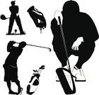 Golf,Silhouette,Back Lit,Symbol,Tee,Sport,Golf Swing,Swing,Ilustration,Golf Course,Vector,Sand Trap,Black Color,Golf Flag,Isolated,Iron - Appliance,Hole,Playing,Shuttlecock,Competitive Sport,Single Object,Modern,Outline,Sports And Fitness,Relaxation,Fun,New,White,Leisure Activity,Illustrations And Vector Art,Hitting,Competition,Bag,People,Abstract,Golf,People,Ball,Sneezing,Backgrounds,Match - Sport,Equipment,Grass,Stick - Plant Part,Practicing,Recreational Pursuit