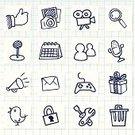 Symbol,Doodle,Drawing - Art Product,Gift,Pencil Drawing,Ilustration,The Media,Sport,Internet,Communication,Camera - Photographic Equipment,Video,Calendar,Home Video Camera,Photograph,Organized Group,Connection,Setting,Announcement Message,Famous Place,Sharing,Vector,Paper,Event,Photography,Online Messaging,Direction,Delete Key,Leisure Games,Obsolete,Mail,Lock,Entertainment,Social Networking,Friendship,Searching,Bird,Public Speaker,Hotel Reception,Recycling Bin,Discussion,Gossip,Microphone,Computer Network,Arranging,Talking