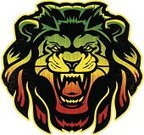 Lion - Feline,Rastafarian,Reggae,Mascot,King,Grunge,Vector,Symbol,Wildcat,Strength,Courage,Computer Graphic,Ilustration,Illustrations And Vector Art,Leadership,Mammals,Animals And Pets,Cats,Vector Cartoons,Africa,Green Color,Red,Yellow