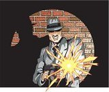 Gangster,Mafia,Organized Crime,Tommy Gun,Machine Gun,Hat,Al Capone,Murderer,Criminal,Bank Robber,1940s Style,Businessman,Fighting,Killing,Furious,Assassination,Muzzle Flash,Suit,Thief,Anger,Displeased,Shouting,Shooting,Shooting,Murder,Cartoon,Flash,Illustrations And Vector Art,Vector Cartoons,Actions,Conflict,Bullet,Business