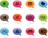 Speech Bubble,Symbol,Icon Set,Computer Icon,Social Networking,Interface Icons,Social Issues,Information Medium,Vector Icons,Technology,Communications Technology,Communication,Concepts And Ideas,Illustrations And Vector Art