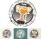 Trophy,Winning,Success,Award,Competition,Rubber Stamp,Grunge,Seal - Stamp,First Place,No People,Vector,Textured Effect,Ilustration,Color Image,Achievement,White Background,Multiple Image,Victory,Star Shape,Creativity,Square,Design Element,Art And Craft,Isolated,Colored Background,Circle