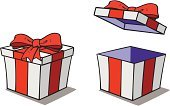 Gift,Cartoon,Box - Container,Bow,Package,Wrapping Paper,Bow,Birthdays,Christmas,Ribbon,Surprise,Holidays And Celebrations