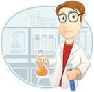 Scientist,Laboratory,Animated Cartoon,Chemist,Chemistry,Men,Glass - Material,Characters,Mixing,Job - Religious Figure,Chemical,Discovery,Working,Research,Illustrations And Vector Art,Science Backgrounds,Medicine And Science,Clip Art,Backgrounds,Vector,Vector Cartoons,Medical,Uniform,Liquid,Ilustration,Coat,Occupation,Eyeglasses