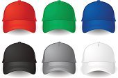 Baseball Cap,Cap,Personal Accessory,Illustrations And Vector Art,Set,Isolated Objects,Clothing,Sports And Fitness,Modern,Vibrant Color,Protection,Elegance,Design