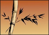Bamboo,Bamboo,Japan,Manga Style,Art,Backgrounds,Cartoon,Tree,Nature,East Asian Culture,Ink and Brush,Ilustration,Vector,Sunset,Computer Graphic,Leaf,Asia,Red,Silhouette,Plant,Horizontal,Clip Art,Illustrations And Vector Art,Objects/Equipment,Design,Elegance,Branch,Woodland,Sky