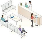Isometric,Hospital,Waiting Room,Healthcare And Medicine,Patient,Doctor's Office,People,Kiosk,Clinic,Doctor,Dentist Office,Digital Tablet,Technology,Modern,Waiting,Optometrist,Vector,General Practitioner,Dermatology,Touch Screen,High Angle View,Sitting,Obstetrician,Magazine,Women,Chair,Dentist,Reading,Ilustration,Men,Counter Top,Doctor's Office,Quarter View,Drawing - Art Product,Blue,Three-quarter View,Multi-Ethnic Group,Turquoise,Purple,White Background,Variation,allergist,Three-dimensional Shape,iso,Three Dimensional,Gynecologist