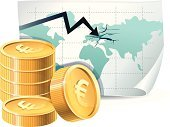 Risk,Europe,Reduction,European Union Currency,Graph,Moving Down,Investment,Euro Symbol,Crisis,Bank,Currency,Map,Funky,Recession,Failure,Global Business,Loss,Finance,Concepts And Ideas,Economic Depression,Cracked,Gold,Sign,Business,Business,Illustrations And Vector Art,Concepts,Vector,Gold Colored,Ilustration,Bankruptcy,Coin