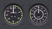 Control Panel,Air Vehicle,Gauge,Airplane,Speedometer,Instrument of Measurement,Helicopter,Meter - Instrument Of Measurement,Vector,Objects/Equipment,Illustrations And Vector Art,Ilustration,Speed