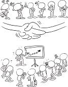 Cartoon,Animated Cartoon,Characters,Blank Expression,Teamwork,Meeting,Business,Sketch,Ilustration,Human Hand,Black And White,Contract,Gesturing,Group Of People,Clapping,Presentation,Arrow Symbol,Vector,Handshake,Occupation,Pencil,Growth,Success,Organization,Agreement,Happiness,Deal,Design,Businessman,Photography,Clip Art,Bossy,Manager,Banner,Waving,Art,free hand,Standing,Camera - Photographic Equipment,Chart,Ink