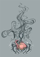 Human Heart,Pain,Smoke - Physical Structure,Love,Anatomy,Healthcare And Medicine,Human Internal Organ,Vector,Inside Of,Human Vein,Cartoon,Gift,People,Isolated,Vector Icons,Human Hand,Illustrations And Vector Art,Vector Cartoons,Aorta,Ilustration,Valentine's Day - Holiday,Valentine Card,Red