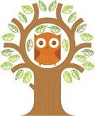 Owl,Tree,Animal,Wisdom,Intelligence,Environment,Vector,Illustrations And Vector Art,Nature,Birds,Animals And Pets,Ilustration,Wildlife,Nature,Plant,Bird