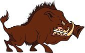 Wild Boar,Wild Pig,Warthog,Pig,Cartoon,Animals In The Wild,Wildlife,Mascot,Animal Teeth,Furious,Anger,Fang,Aggression,Tusk,Illustrations And Vector Art,Mammals,Snout,Safari Animals,Wild Animals,Animals And Pets,Vector Cartoons,Isolated On White,Isolated,Hoofed Mammal,Animal,Snarling