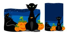 Domestic Cat,Halloween,Evil,Monster,Black Color,Spooky,House,Night,October,Pumpkin,Dead Person,Heckling,Celebration,Ilustration,Demon,Autumn,Sky,Blank,Cats,Illustrations And Vector Art,ghoul,Star - Space,Animals And Pets,Holidays And Celebrations,Halloween,catlike,Feline,Text,Gothic Style,Blue,Cemetery