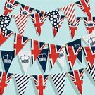 Bunting,Jubilee,British Flag,Backgrounds,UK,British Culture,Decoration,Crown,Celebration,Cultures,Ribbon,Holidays And Celebrations,Holiday Backgrounds,Blue,Computer Graphic,White,Red,Vector Ornaments,Backdrop,Illustrations And Vector Art,Isolated Objects,Objects with Clipping Paths,Party - Social Event,Vector,Ilustration,Clipping Path,Patriotism