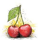 Cherry,Fruit,Sketch,Ilustration,Vector,Drawing - Activity,Doodle,Leaf,Drawing - Art Product,Illustrations And Vector Art
