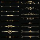 Frame,Ornate,Gold,Gold Colored,Retro Revival,Old-fashioned,Decoration,Luxury,Scroll Shape,Elegance,Vector,Banner,Design Element,Black Color,Simplicity,Swirl,Metallic,Symbol,Shiny,Set,Design,Metal,Outline,Classic,Abstract,Collection,Ilustration,Vector Ornaments,Isolated Objects,Rule Line,Isolated,Illustrations And Vector Art