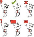 Mistake,Question Mark,right,True,Showing,Cartoon,One Person,Drawing - Activity,Asking,incorrect,Exclamation Point,Assistance,faq,correct,Pointing,Support,Businessman,Characters,Holding,Icon Set,Mail,Pencil Drawing,Symbol,Cross Shape,Message,Tie,Vector,At Attention,Business,Drawing - Art Product,Help,Green Color,Warning Sign,Sketch,Computer Icon,Letter,File,Square Shape,Red