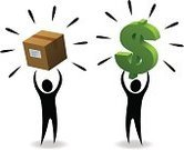 Selling,Merchandise,Sales Occupation,Stick Figure,Currency,Picking Up,New,Buying,Exchanging,Business,Box - Container,Shopping,Dollar Sign,Retail,Holding,Sparse,Green Color,Finance,White Background,Black Color,Cardboard Box,Isolated,Dollar,Equipment,Vector,Ilustration,Isolated On White