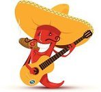 Pepper - Vegetable,Guitar,Pepper Shaker,Pepper,Chili Pepper,Mexican Culture,Cartoon,Smiley Face,Sombrero,Chili,Smiling,Mexican Ethnicity,Food,Fun,Ethnic Music,Vegetable,Ethnic,Indigenous Culture,Ilustration,Eat,Cheerful,Heat - Temperature,Meal,Cigar,Music,Humor,Vector,Rustic,play guitar,Characters,Smoking,String,Food And Drink,White,Standing,Cultures,Isolated Objects,Red,Musical Instrument String,Spice,Illustrations And Vector Art,Yellow,Smoke - Physical Structure,Isolated On White