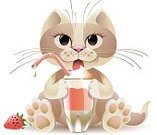 Drinking Straw,Strawberry,Pets,Domestic Cat,Sitting,Beige,Kitten,Cocktail,Food,Drink,Isolated On White,Animals And Pets,Feline,Dessert,Drinks,Vector Cartoons,Licking,Animal Tongue,Whisker,Frothy Drink,Non-alcoholic Beverage,Isolated,Food And Drink,Illustrations And Vector Art,Sweet Food,Vector,Cats,Glass,Cute,Paw