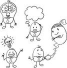 Thinking,Human Brain,Doodle,Creativity,Sketch,Men,Symbol,Ideas,Inspiration,Brainstorming,Team,Light Bulb,Emotional Stress,Teamwork,Sports Team,Physical Pressure,Bubble,Cartoon,Occupation,Pencil Drawing,Icon Set,Businessman,Black And White,Contract,Smiling,Meeting,Business Person,Lifestyles,Job - Religious Figure,Smiley Face,Outline,Isolated,Line Art,White Background,Expertise,White,Formalwear,Business,Vector,Group Of People,Standing,Teapot,Foreman,Intelligence,Suit,Goddess