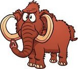 Mammoth,Elephant,Animal,Prehistoric Era,Serious,Cartoon,Animals And Pets,Illustrations And Vector Art,Wild Animals,Color Gradient,Vector Cartoons,Vector,Characters,Standing,Brown,Isolated