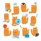 Domestic Cat,Computer Icon,Graduation,Music,Preschool,Set,Science,Ilustration,Palette,Learning,Student,Vector,Animal,Book,Painted Image,Cheerful,subject,Ideas,Education,Creativity,Striped,Textbook,Fun,Mathematics,Globe - Man Made Object,Reading,Biology,Tail,Physical Geography,University,Drawing - Art Product,Cats,Handbell,Literature,Pets,Industry,Vector Cartoons,Red,Paint,Illustrations And Vector Art,Cute,Physics,Feline,Group Of Animals,Education,Enjoyment,Chemistry Class,Animals And Pets,Teaching,Domestic Animals,Basketball - Sport