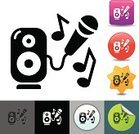 Karaoke,Microphone,Singing,Symbol,Computer Icon,Vector,Sound,Music,Entertainment,Party - Social Event,Speaker,Simplicity,Ilustration,Music,Design Element,Single Object,Parties,Holidays And Celebrations,Arts And Entertainment,Isolated,Icon Set,Clip Art