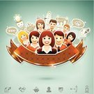 Teamwork,Human Face,Team,Women,Businessman,Symbol,Occupation,Ideas,Computer Icon,Speech Bubble,Set,Leadership,Smiling,Handshake,Technology,Concepts,Organized Group,Icon Set,Manager,Business,Human Head,Social Networking,Placard,Business Person,Piggy Bank,Communication,Partnership,Businesswoman,Banner,White Collar Worker,Color Image,Organization,Corporate Business,Sign,Award Ribbon,Digitally Generated Image,Ilustration,Vector,The Media,Scroll,Agreement,Scroll Shape,Design,Group Of People,Contract,People,Administrator,Ribbon,Men