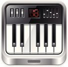 Application Software,Symbol,Computer Icon,Piano,Music,Piano Key,Keypad,Black Color,Square,Square Shape,Metal,Sound,Ilustration,Interface Icons,Push Button,Button,Sound Recording Equipment,Audio Equipment,Isolated,Illustrations And Vector Art,Concepts And Ideas,Musical Instrument,Shiny,Metallic,Vector,White Background,Single Object