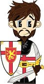 Army Soldier,Knight,Sword,History,Men,The Crusades,Cute,Cartoon,Medieval,Shield,Holding,Glove,Mustache,Clip Art,Buckle,The Past,Illustrations And Vector Art,People,Vector Cartoons,Facial Hair,Vector,Warrior,Characters,Chivalry,Courage,Insignia,Suit of Armor,Shielding,Brown Hair,Young Adults,Isolated,Belt,Smiling,Lion - Feline,Lifestyle,Beard,Cross Shape,One Person,Ilustration