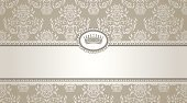 Pattern,Victorian Style,Silk,Silver Colored,Frame,Certificate,Ornate,Diploma,Retro Revival,Gray,Old-fashioned,Flower,Floral Pattern,No People,Vector,Ilustration,Part Of,Seamless,Vector Backgrounds,Swirl,Design,Illustrations And Vector Art,filigree,Vector Ornaments,Decoration,Brown,Label,Curve,Beige