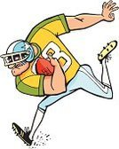 American Football - Sport,Furious,Rugby,Actions,Sports And Fitness,Vector Cartoons,Illustrations And Vector Art,Team Sports,Aggression,Sports Helmet,Playing,One Person,Action,Ball