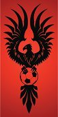 Phoenix - Mythical Bird,Soccer,Flame,Eagle - Bird,Hawk - Bird,Circle,Bird,Tattoo,Wing,Feather,Fire - Natural Phenomenon,Sign,Mascot,Football,Silhouette,Insignia,Sport,Pentagon,Mythology,Hobbies,Single Object,Power,New Life,Pattern,Strength,Vector,Decoration,Heat - Temperature,Isolated,Wildlife,Life,Ball,Simplicity,Animal,Black Color,Ilustration,Shape,Flying,Leisure Activity,Red,Sphere,Symbol,Leisure Games,Fantasy