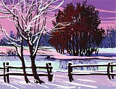 Winter,Landscape,Tree,Sunset,Backgrounds,Landscapes,Christmas,Holidays And Celebrations,Christmas,landscape painting,Nature