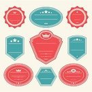 Badge,Retro Revival,Insignia,Old-fashioned,Label,Illustrations And Vector Art,Vector Icons,Set,Vector,Sign,Symbol