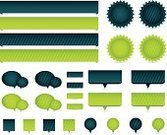Interface Icons,Banner,Placard,Modern,Internet,Award Ribbon,Ribbon,Label,Sparse,Badge,Connection,Bubble,Speech,Speech Bubble,Vector,Silhouette,Pattern,Striped,Square Shape,Web Page,Multi Colored,Square,Folded,Color Gradient,Funky,Green Color,Vibrant Color,Design Element,Computer Icon,Shadow,Decoration,Symbol,Blue