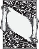Gothic Style,Floral Pattern,Vector,Retro Revival,Sign,Banner,Insignia,Swirl,Victorian Style,Placard,Old-fashioned,Coat Of Arms,Pattern,Baroque Style,Design,Curve,Scroll,Scroll Shape,Spiral,Vignette,Symbol,filigree,Blank,Majestic,Rectangle,Grayscale,Gray,Document,Deco,Engraved Image,Vector Backgrounds,Clip Art,Luxury,Elegance,Decor,Abstract,Decoration,Copy Space,Leaf,Antique,Classical Style,Cartouche,Black And White,Rococo Style,Backgrounds,Illustrations And Vector Art,Curled Up,Vector Ornaments,Ornate,Scroll,flourishes